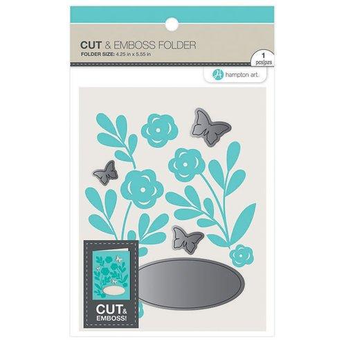Hampton Art - Cut and Emboss Folder - Butterfly Florals