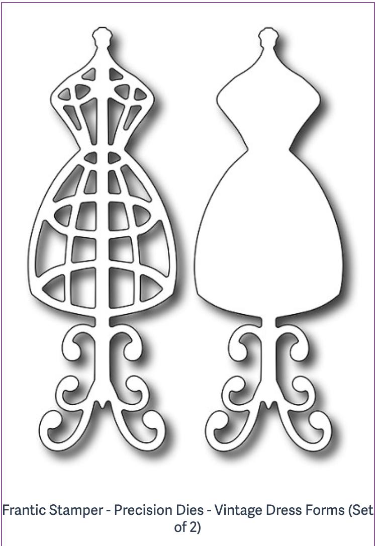 Frantic Stamper - Precision Dies - Vintage Dress Forms (Set of 2)