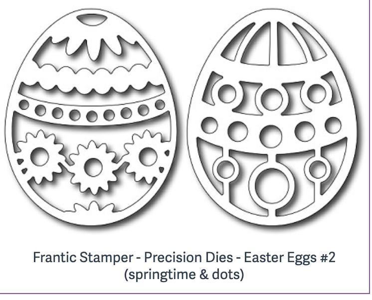 Frantic Stamper - Precision Dies - Easter Eggs #2 (springtime & dots)