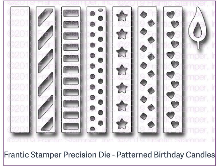 Frantic Stamper Precision Die - Patterned Birthday Candles