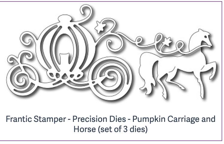Frantic Stamper - Precision Dies - Pumpkin Carriage and Horse (set of 3 dies)