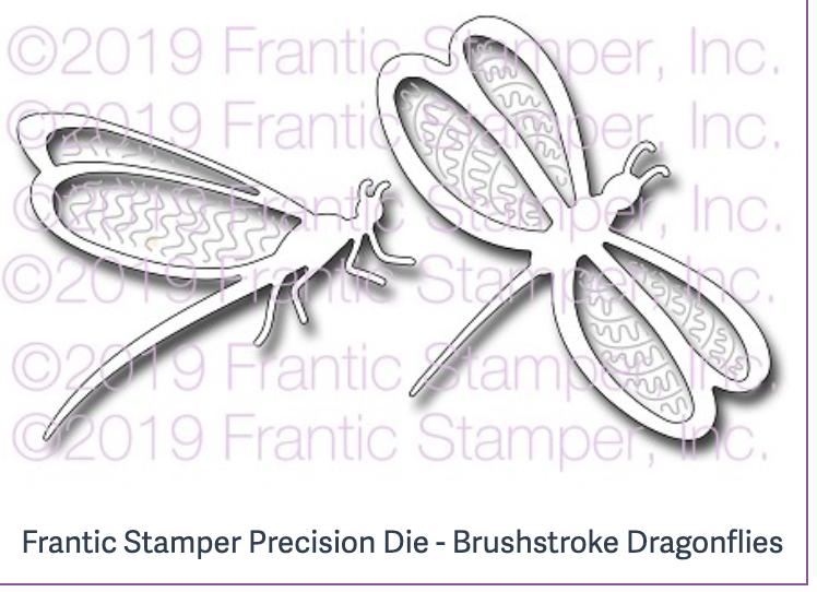 Frantic Stamper Precision Die - Brushstroke Dragonflies
