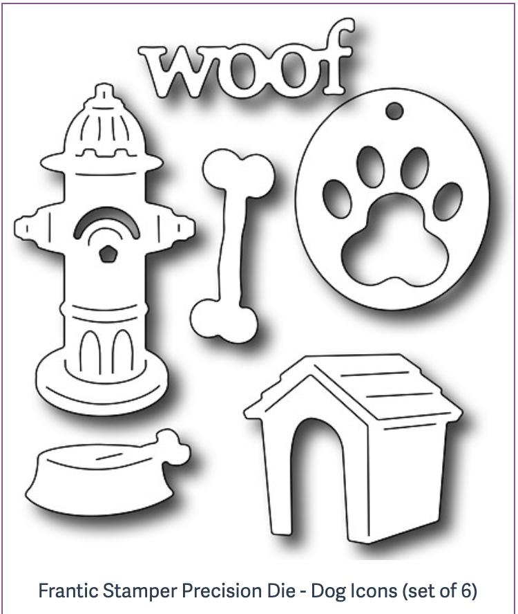 Frantic Stamper Precision Die - Dog Icons (set of 6)
