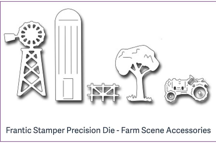 Frantic Stamper Precision Die - Farm Scene Accessories