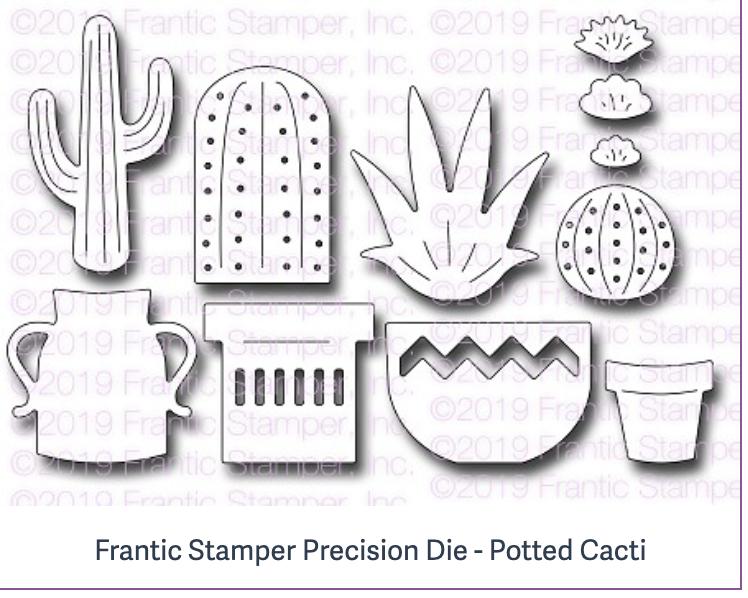 Frantic Stamper Precision Die - Potted Cacti
