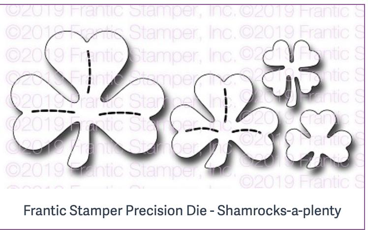 Frantic Stamper Precision Die - Shamrocks-a-plenty