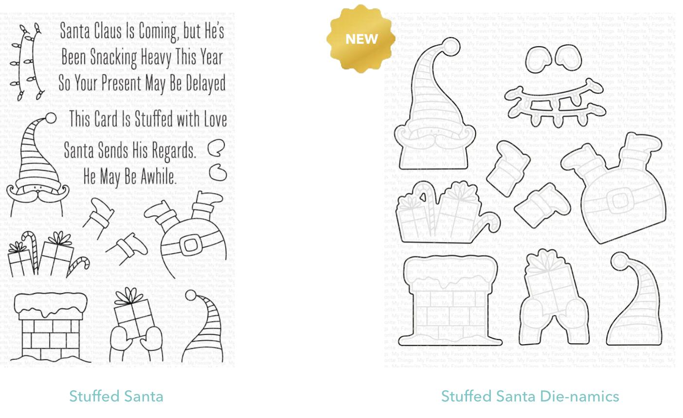 Clear Stamp & DIE  Stuffed Santa