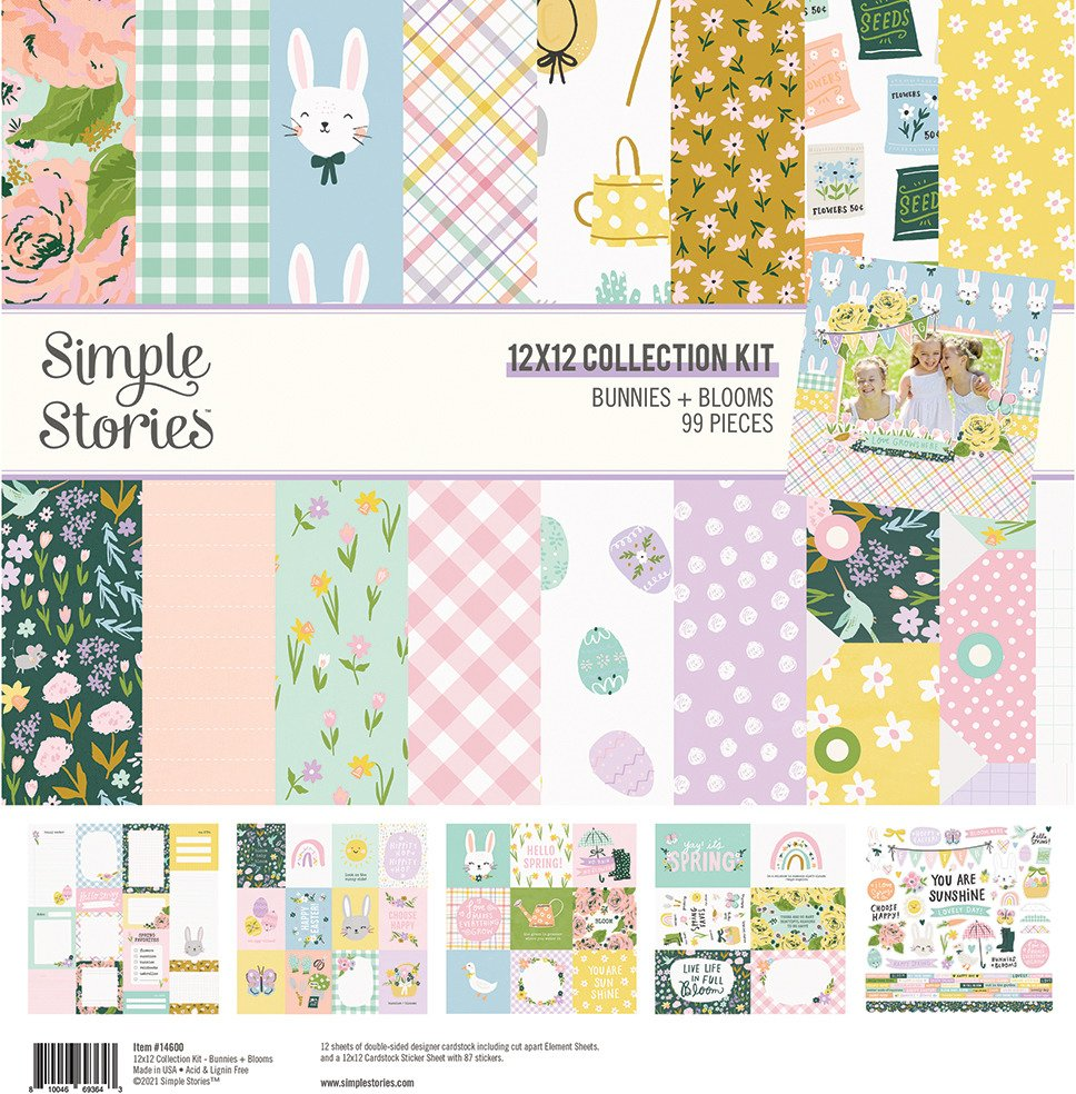 12X12 Collection Kit, Bunnies + Blooms