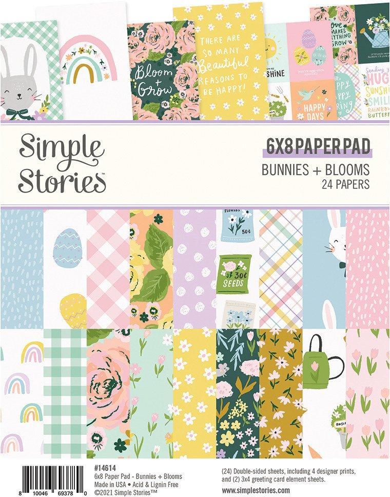 6X8 Paper Pad, Bunnies + Blooms