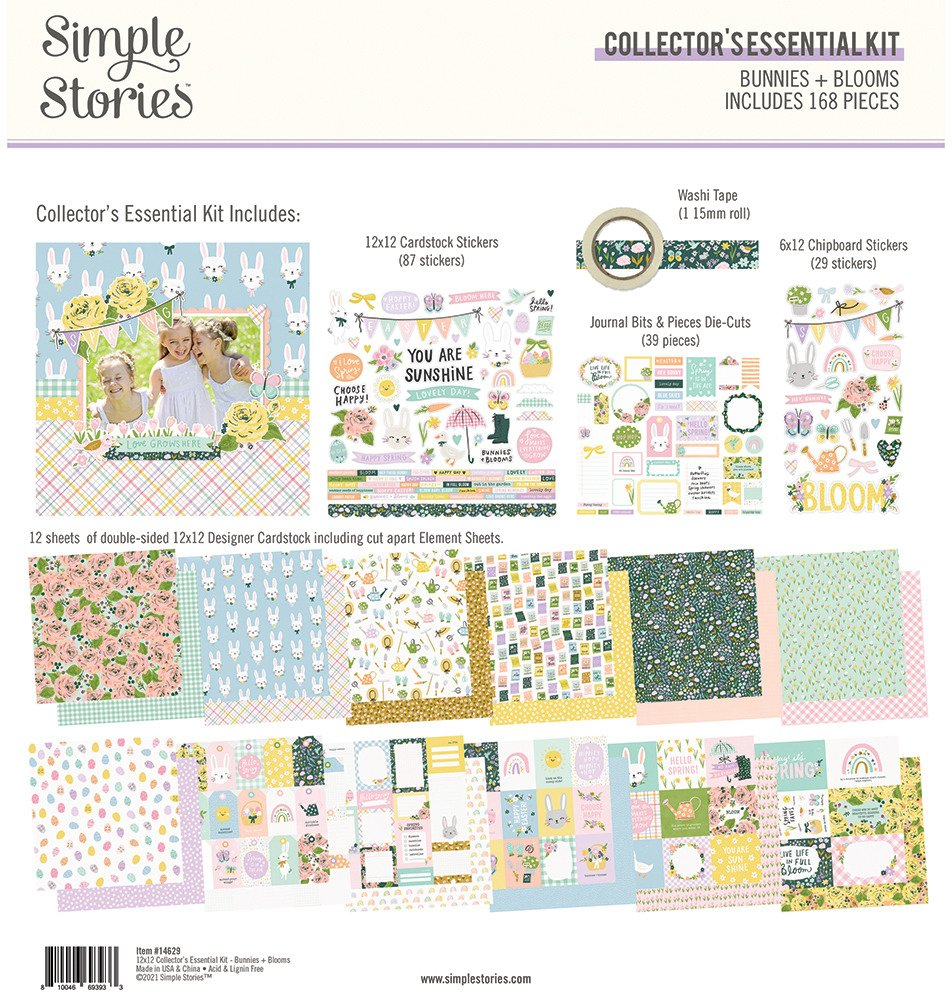12X12 Collector's Essential Kit, Bunnies + Blooms