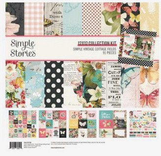 Simple Stories Collection Kit 12X12-Simple Vintage Cotton Fields