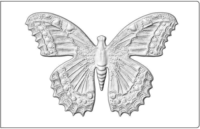 3D Impresslits Embossing Folder, Butterfly