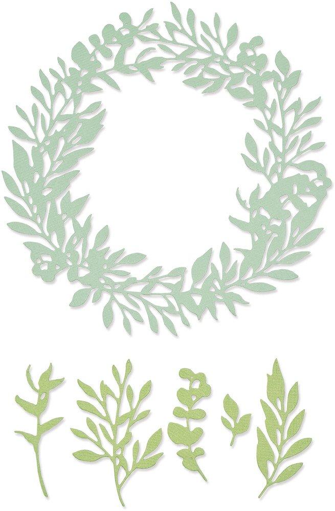 Thinlits Die Set, Wild Leaves Wreath (6pk)