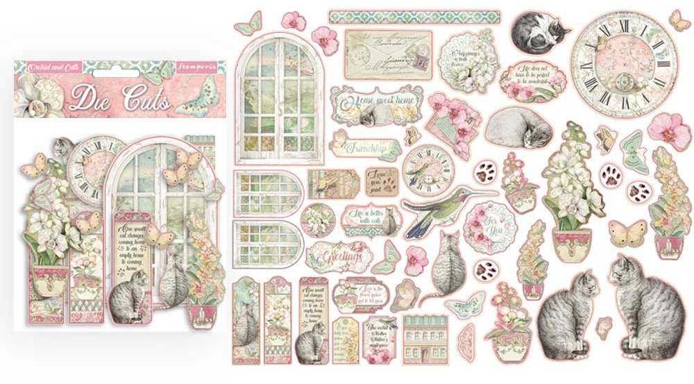 Die Cuts, Orchids & Cats