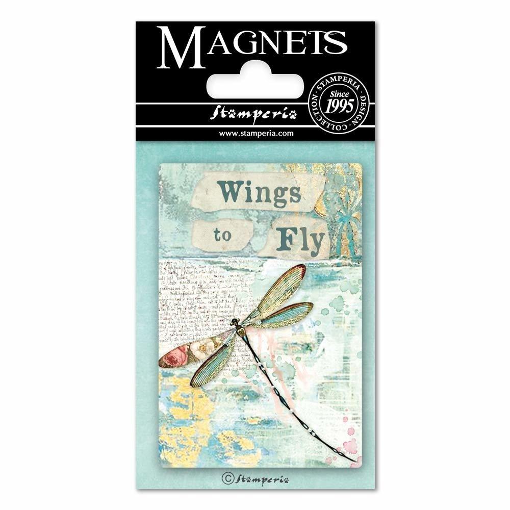 Magnet, 8X5.5cm - Wonderland Dragonfly