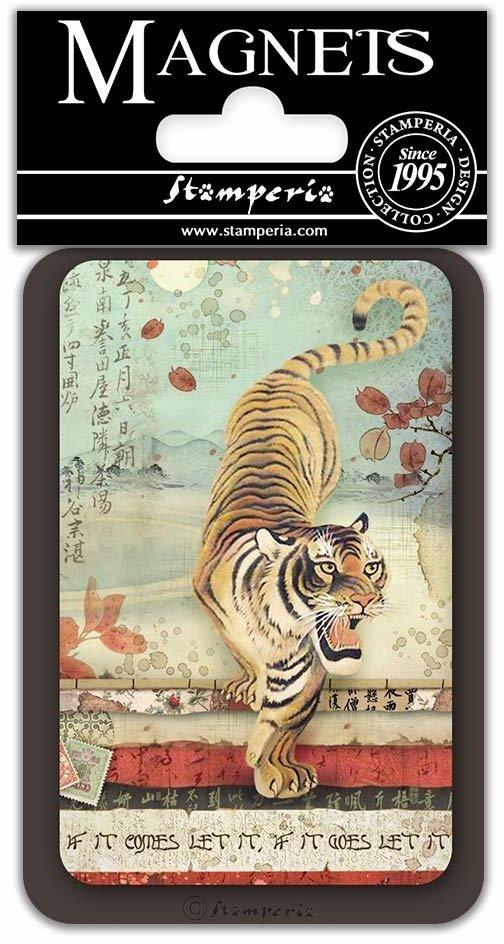 Magnet, 8x5.5cm - Tiger
