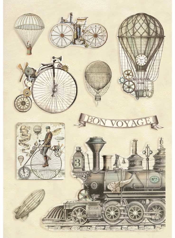 A5 Colored Wooden Frames, Voyages Fantastiques - Transport