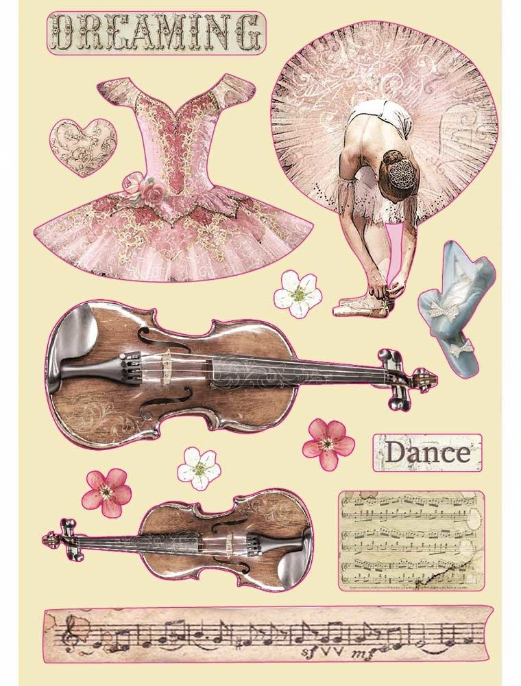A5 Colored Wooden Frames, Passion - Violin & Dance