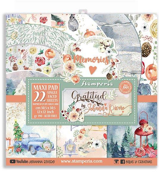 30X30cm (12X12) Maxi Paper Pack, Gratitud