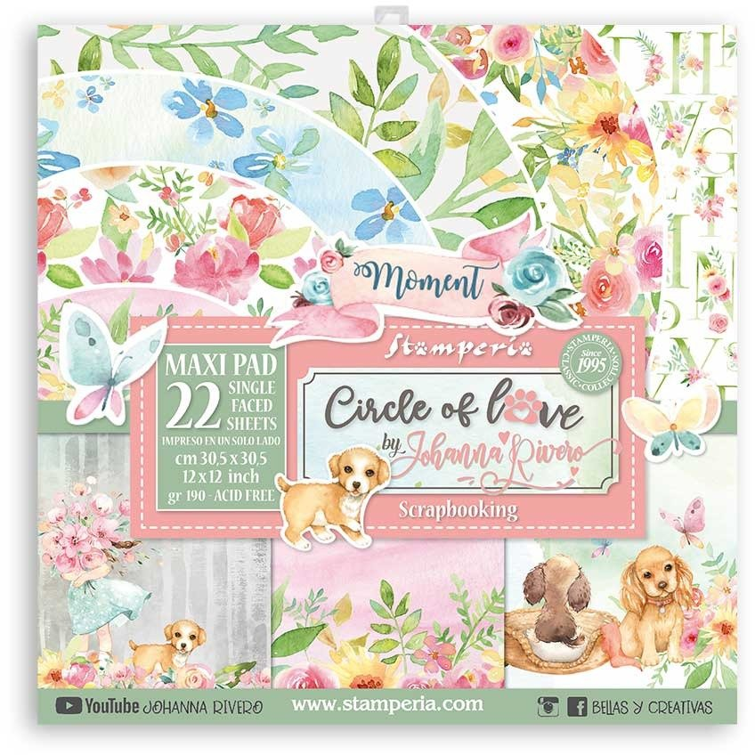 30X30cm (12X12) Maxi Paper Pack, Circle of Love