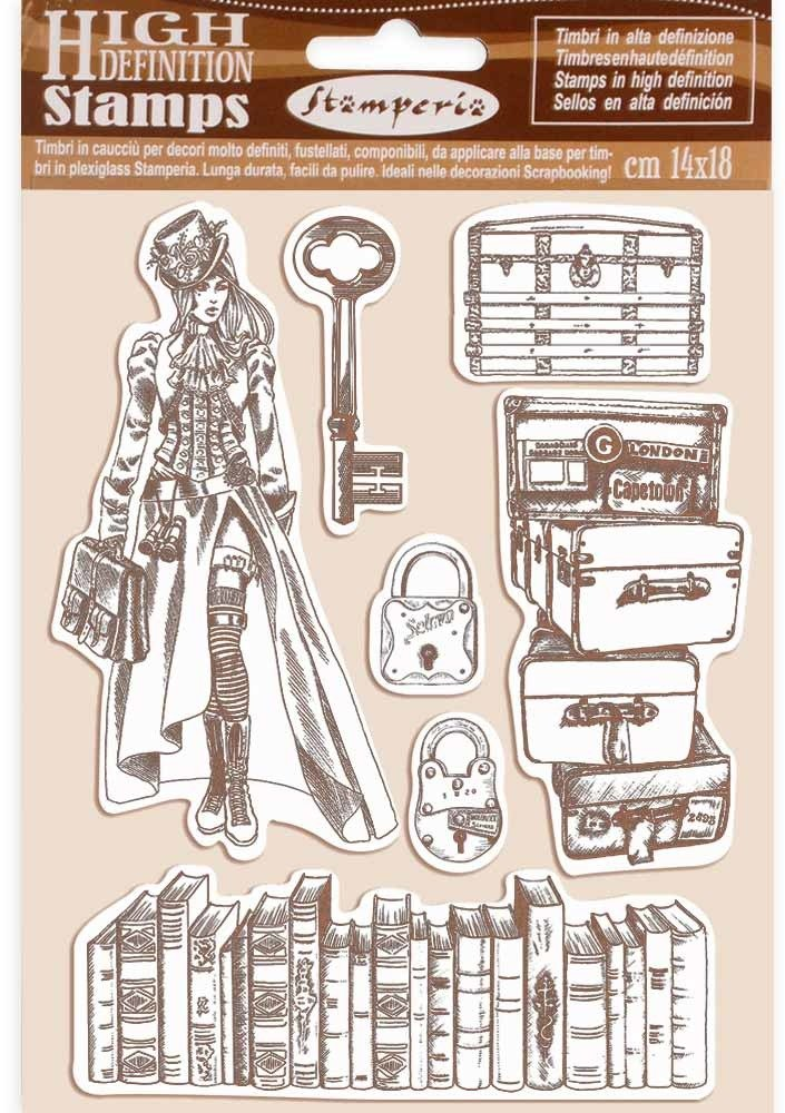 HD Natural Rubber Stamp, Lady Vagabond