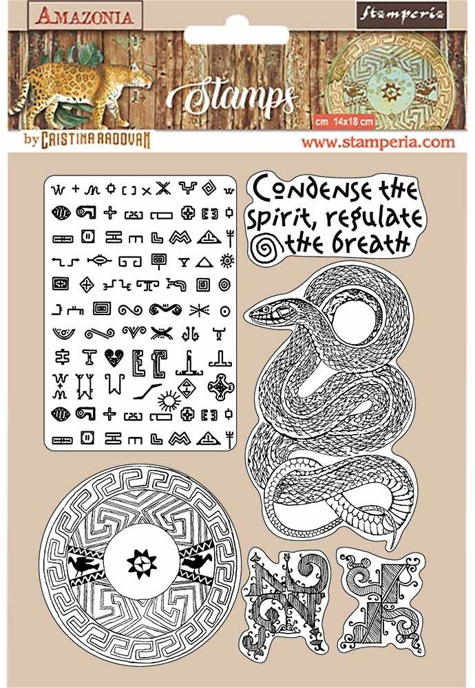 HD Natural Rubber Stamp, Amazonia - Snake
