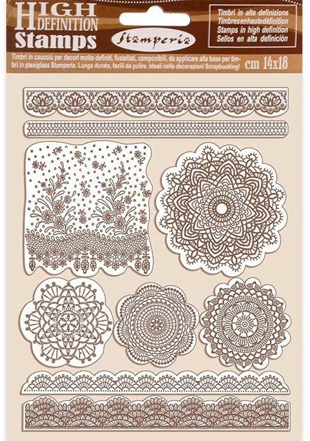 HD Natural Rubber Stamp, Passion - Lace