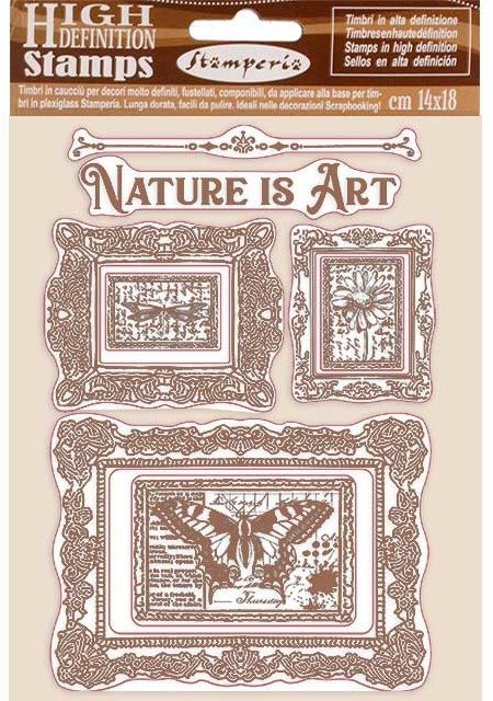 HD Natural Rubber Stamp, Atelier Des Arts - Nature is Art Frame