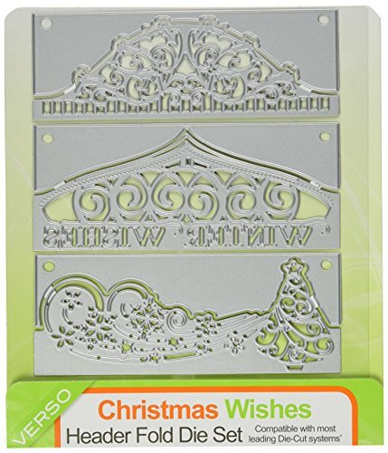 Die, Header Fold Christmas Wishes