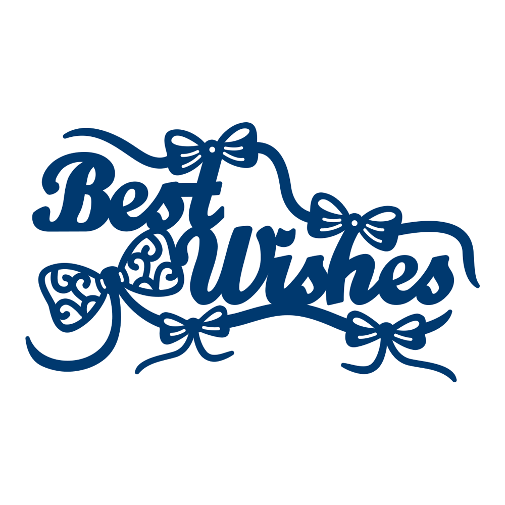 Die, Best Wishes With Embellishments