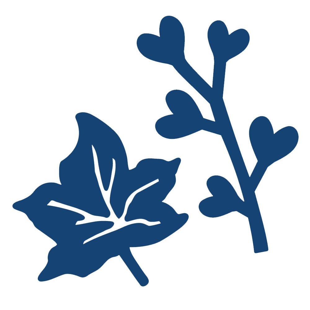 Die, Mini Ivy Leaf & Heart Branch