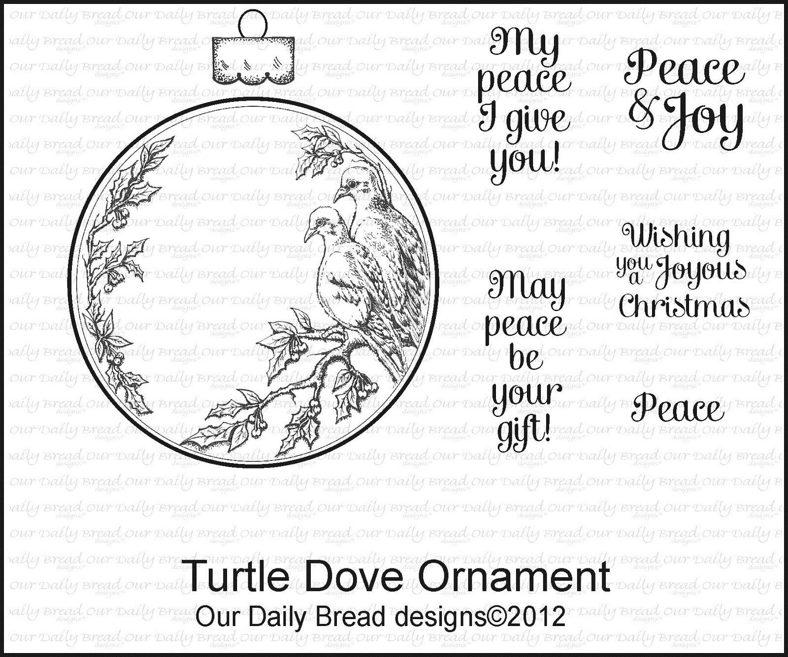 Stamp, Turtle Dove Ornament