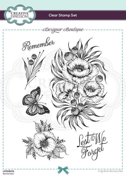 Designer Boutique Collection Remember A5 Clear Stamp Set