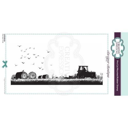 Designer Boutique Collection Harvest Time DL Pre Cut Rubber Stamp