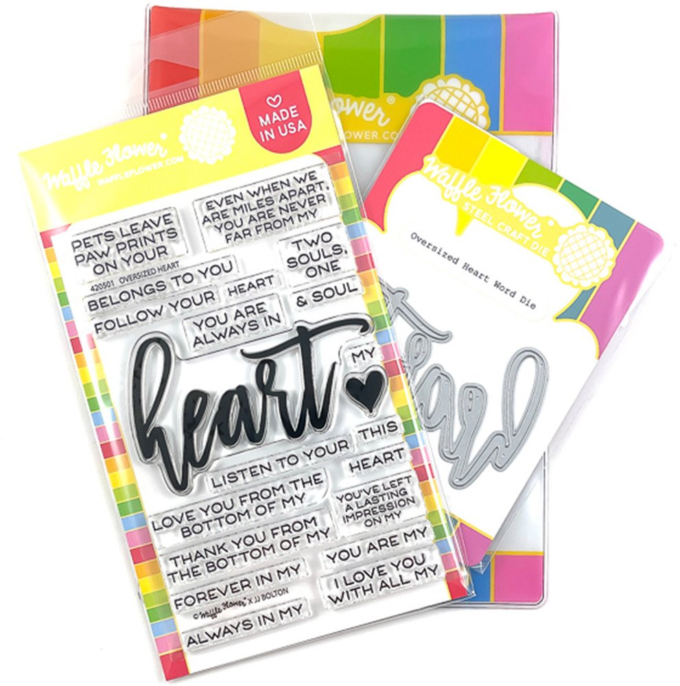 Clear Stamp & Die Combo, Oversized Heart