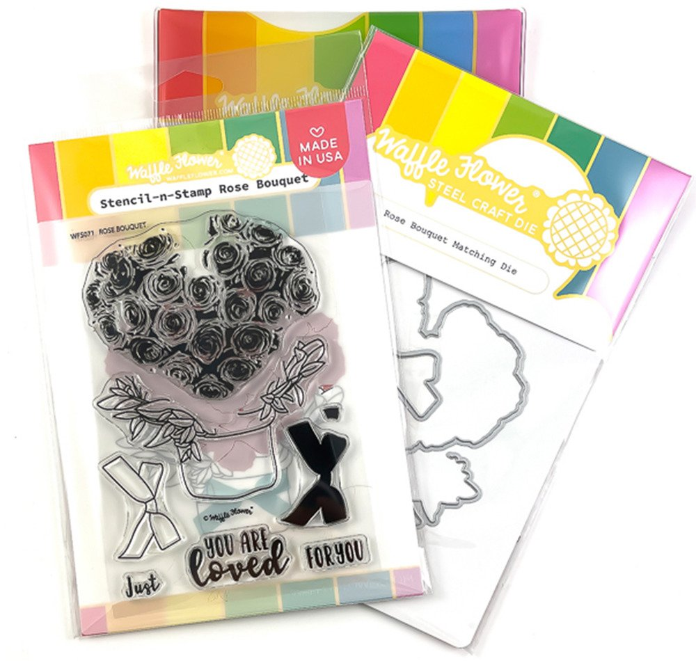 Clear Stamp & Die Combo, Rose Bouquet