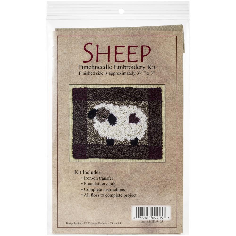 Sheep  Needle Punch Kit - 3-3/4 x 4