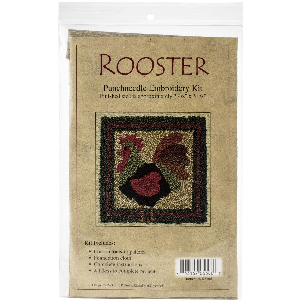 Rooster  Needle Punch Kit - 3.375 x 3.375