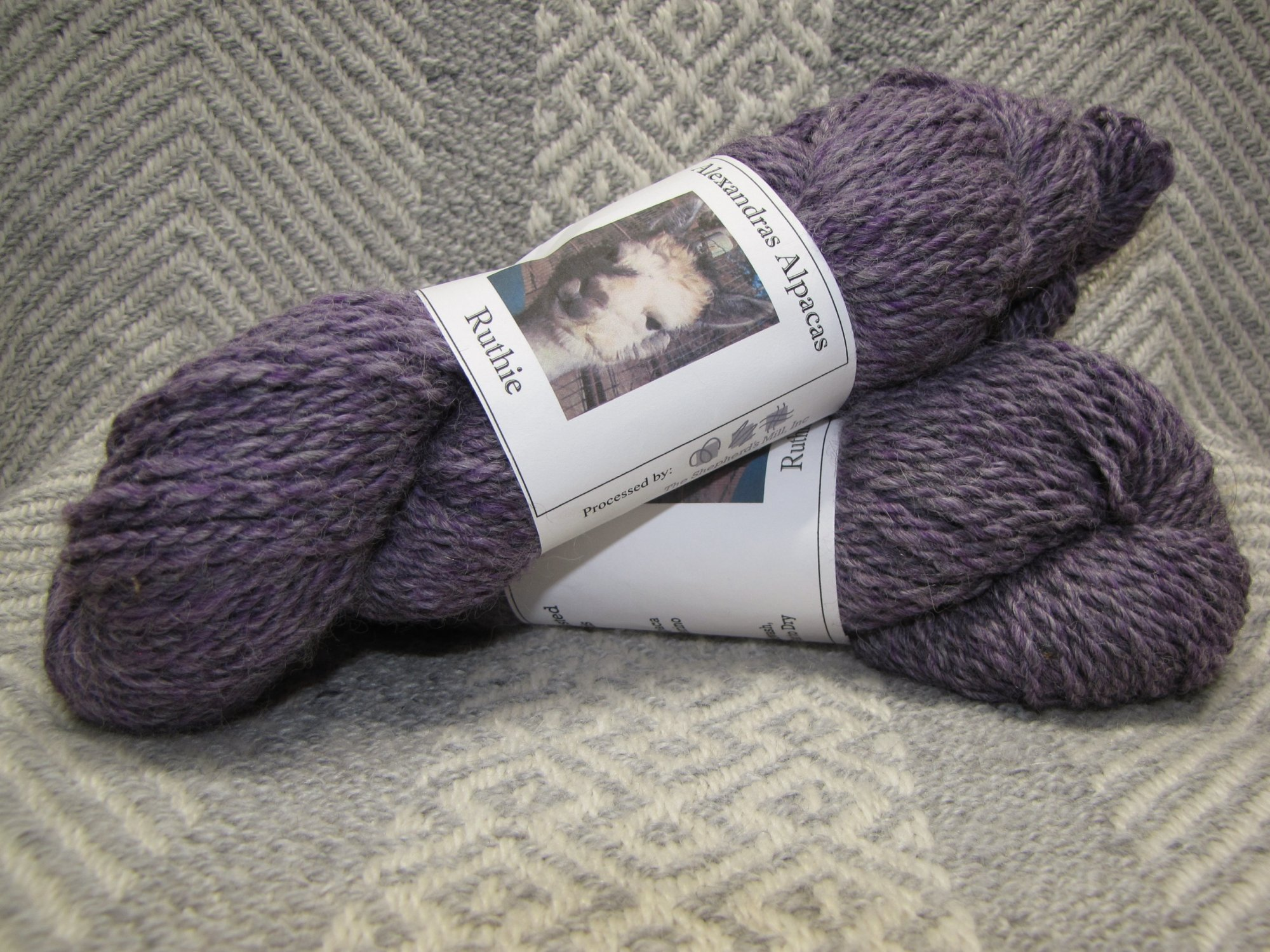 Ruthie, 2 Ply Worsted  - Purple