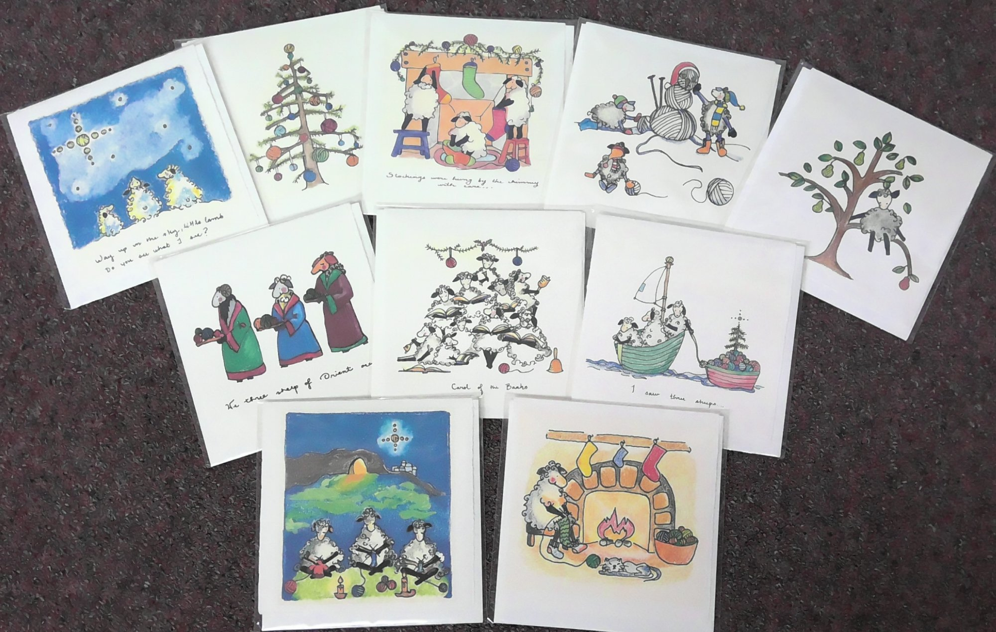 Cards, Single Assorted  Christmas Styles