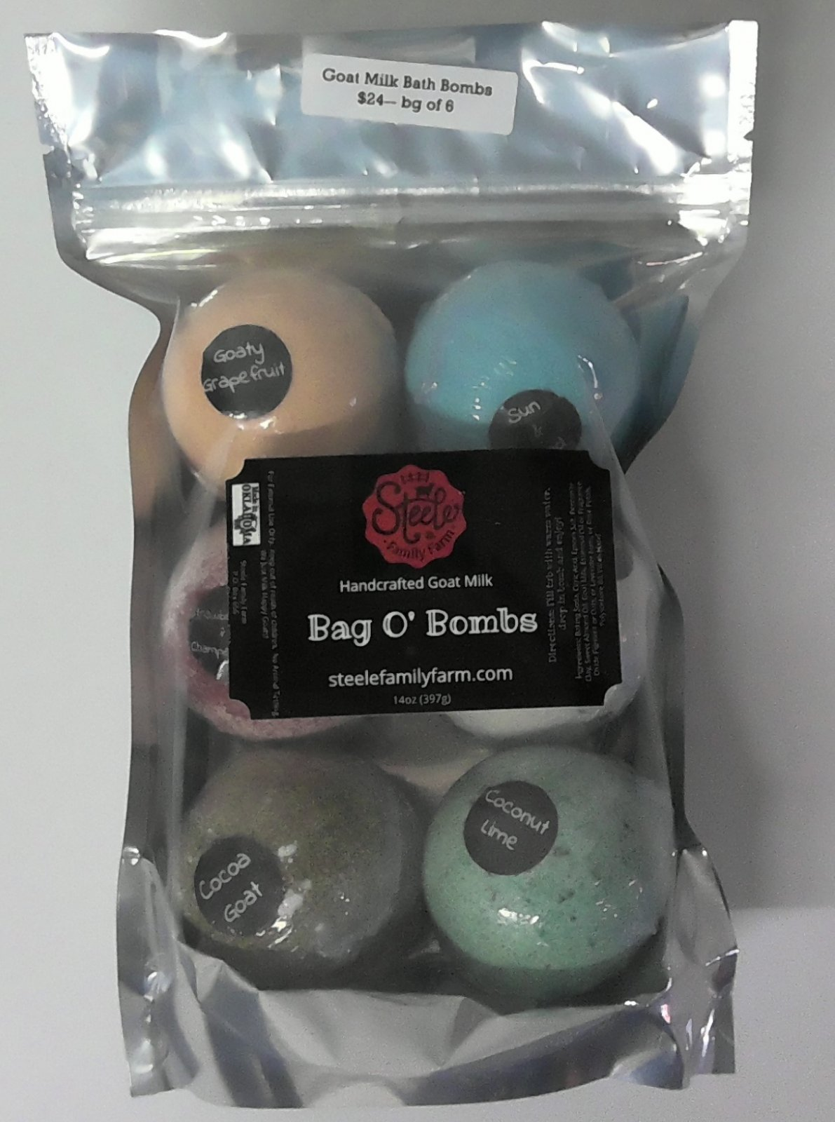 Goat Milk Bath Bombs - Handcrafted - 6 Pack