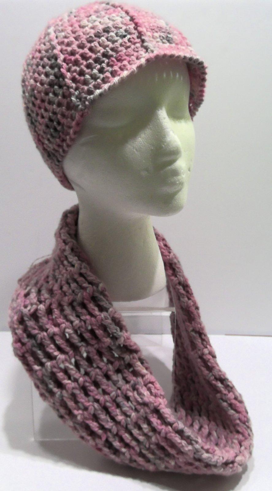 Pink Scarf & Hat Set