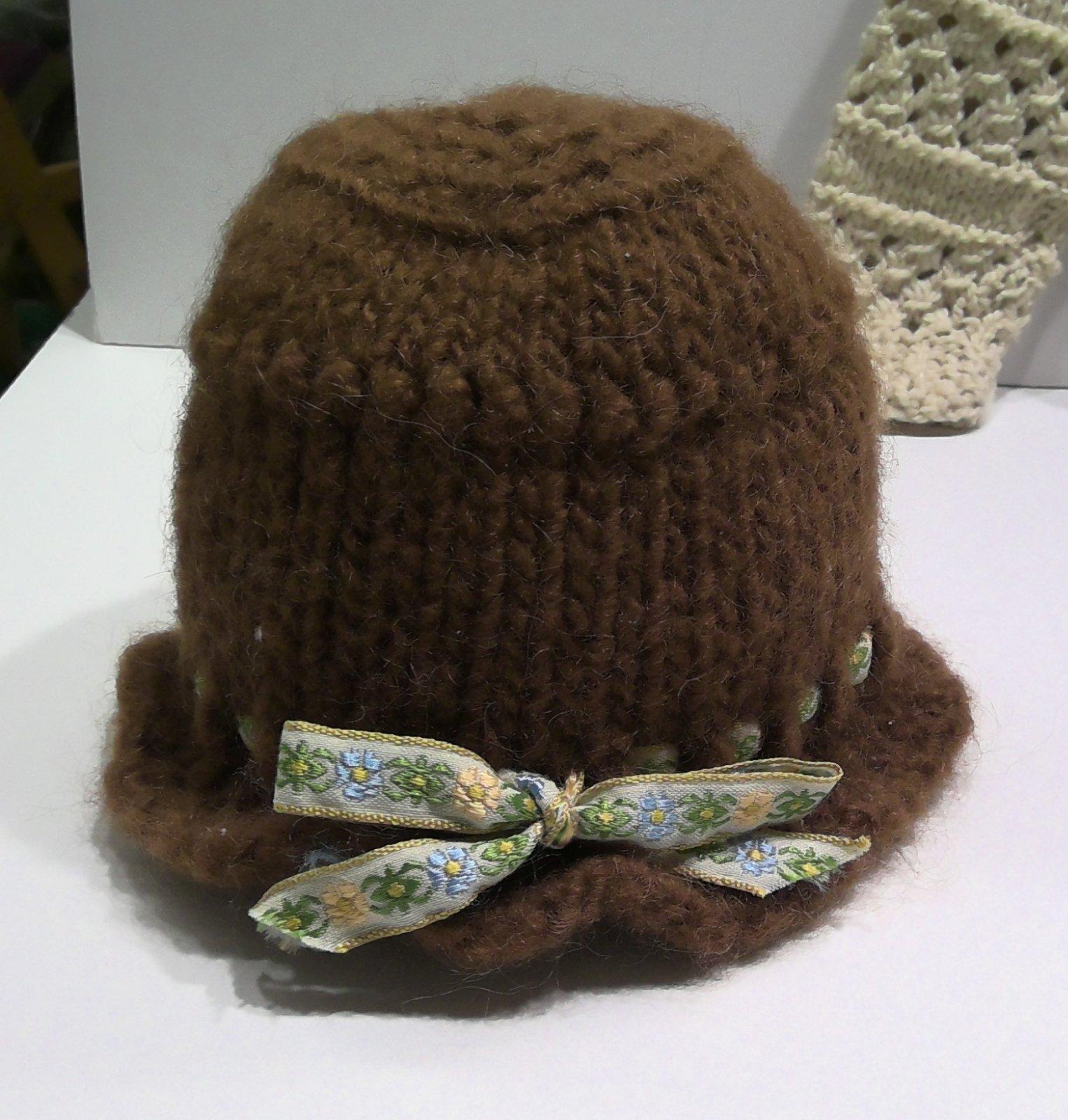 Baby Hat - Brown - Handmade