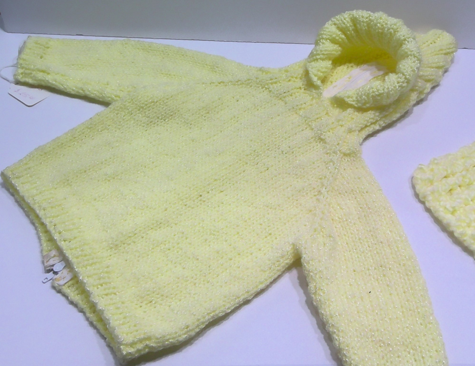 Yellow Baby Sweater - Handmade