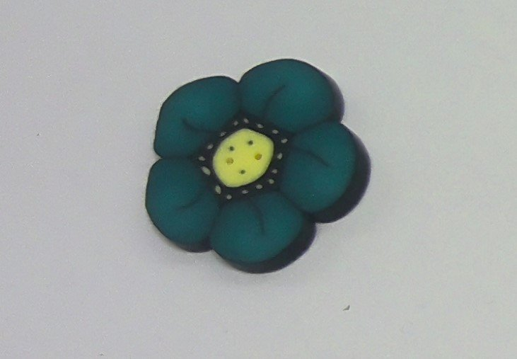 Just Buttons - Lg Wildflower Teal