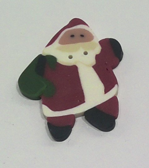 Just Buttons - Lg Leaping Santa