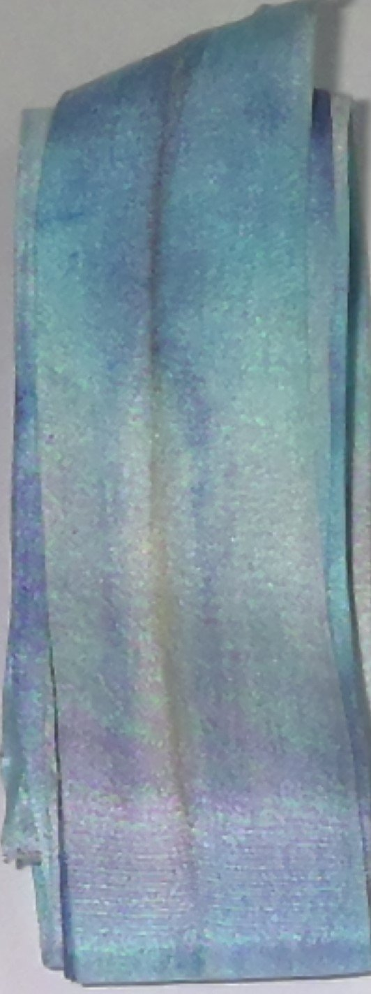 KM Hand Dyed Silk Ribbon  1 1/4 in Wide   Lt  Blue