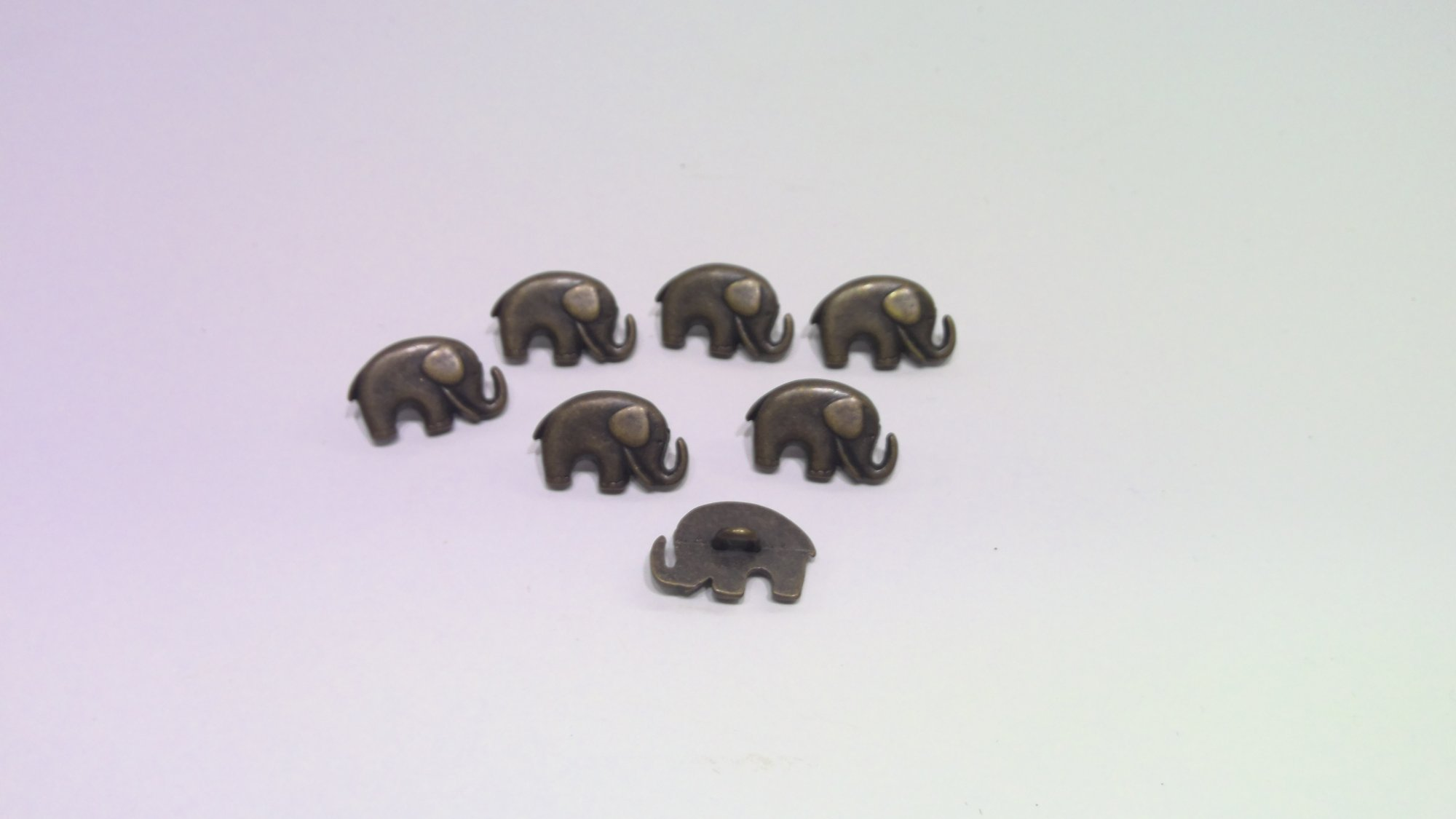 Elephant Buttons set of 7