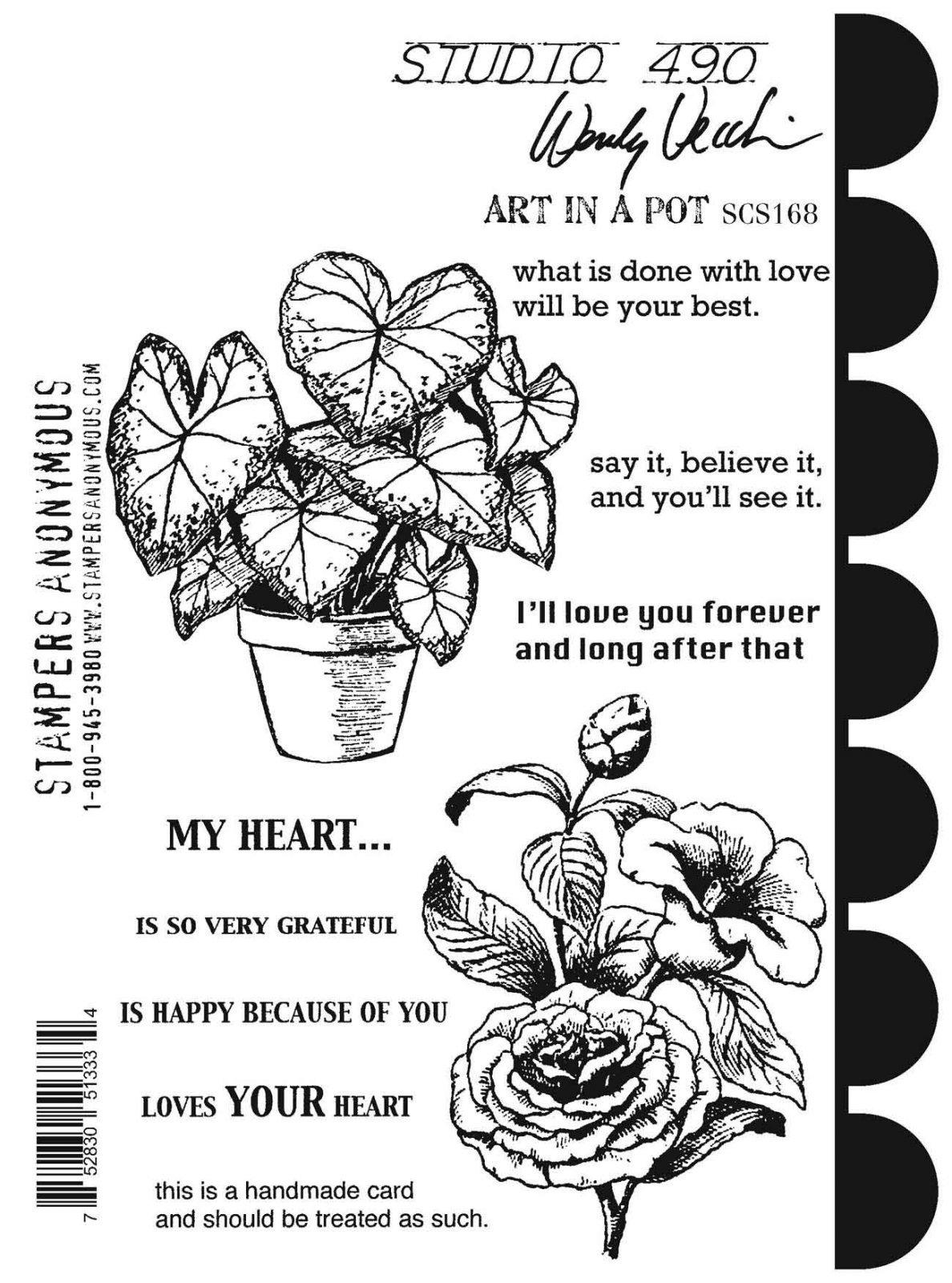 Art in a Pot Stamp/Stencil