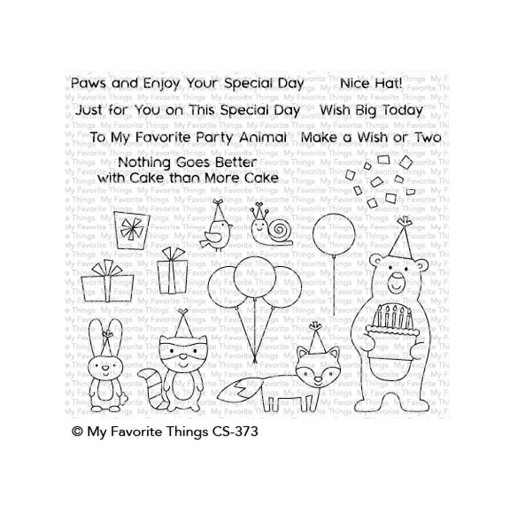 Birthday Bear & Friends Stamp
